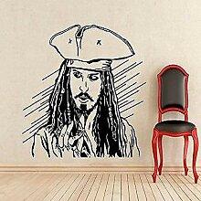 Captain Applique Pirate Movie Vinyl Aufkleber Art