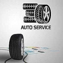 Car Service Wandaufkleber Reifen Modellierung