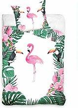 Carbotex Bettwäsche Flamingo NL187021B Baumwolle