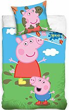 Carbotex Bettwäsche Set Peppa Pig 140x200