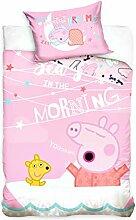 Carbotex Peppa Pig - Baby Bettwäsche, 100x135 cm,