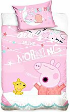 Carbotex Peppa Pig - Baby Bettwäsche, 100x135 cm,