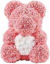 CARDMOE Forever Rose Teddy Bär Puppe Valentinstag