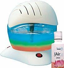 Careforair Regenbogen Breezer mit 100mL Thai Lotus Essenz - White Electric Luftreiniger Revitaliser Luftbefeuchter Air Freshener Diffusor - Staub Bad Geruch Tabakdämpfe Allergene Asthma - Farbwechsel LED-Licht mit Ein Aus Schalter - Hochwertige Motor