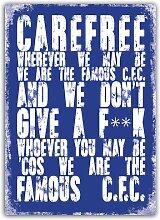 Carefree Wo immer wir auch Metall Wandschild