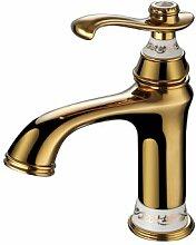 Caribou@Continental antike Alle bronze Heißen und kalten Wasserhahn einzelne Bohrung?A Waschtischarmatur Wasserhahn Spültisch Küche Waschtisch Waschenbecken Bad