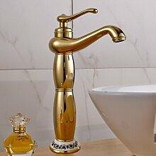 Caribou@Continental einzelne Bohrung Wasserhahn Golden?A Waschtischarmatur Wasserhahn Spültisch Küche Waschtisch Waschenbecken Bad
