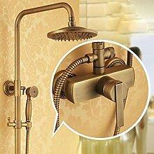 Caribou@Europäischen Kupfer Antik Aufzug Dusche Set Dusche Wasserhahn , e