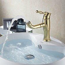 Caribou Küchenarmatur Waschtischarmatur Wasserhahn Spültisch Küche Waschtisch Waschenbecken Bad Waschbecken Wasserhahn Gold
