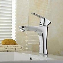 Caribou Küchenarmatur Waschtischarmatur Wasserhahn Spültisch Küche Waschtisch Waschenbecken Bad Verchromt Waschtisch Armatur