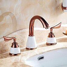Caribou Küchenarmatur Waschtischarmatur Wasserhahn Spültisch Küche Waschtisch Waschenbecken Bad Rose Gold Armaturen
