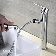 Caribou@Warmes und kaltes Wasser Waschbecken Wasserhahn ziehen Typ Waschtischarmatur Wasserhahn Spültisch Küche Waschtisch Waschenbecken Bad