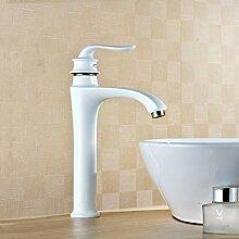 Caribou@Waschtischarmatur Wasserhahn Spültisch Küche Waschtisch Waschenbecken Bad Gebratener weißer Farbe gemischte Hähne Waschbecken Wasserhahn Toilette Wasserhahn