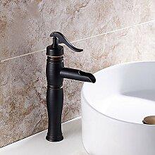 Caribou@Waschtischarmatur Wasserhahn Spültisch Küche Waschtisch Waschenbecken Bad Continental schwarz Bronze warmes und kaltes Bad Waschbecken Wasserhahn