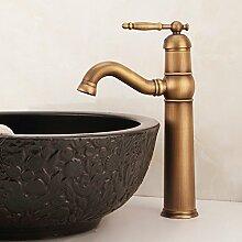 Caribou@Waschtischarmatur Wasserhahn Spültisch Küche Waschtisch Waschenbecken Bad Europäischen Antike Kupfer Warmwasser Bad Waschbecken Waschtischmischer