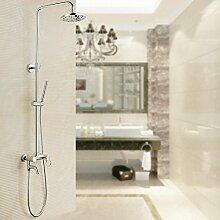 Caribou@Zeitgenössische Kupfer rund Dusche set Dusche Wasserhahn