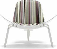 Carl Hansen & Son CH07 Shell Sessel Weiße Buche Stripes 002 (b) 92 X (t) 83 X (h) 74 Cm