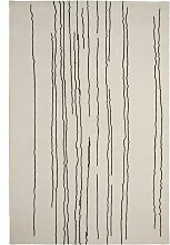 Carl Hansen & Son NUP003 Woodlines Teppich 170x240 Weiß Mit Schwarzen Streifen (l) 240.00 X (b) 170.00 Cm