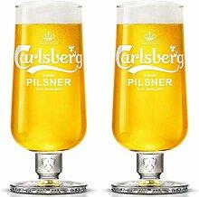 Carlsberg Pilsner Pint Kelchglas, gehärtet und