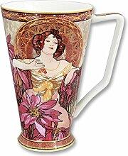 Carmani - Große Porzellan-Becher von Alfons Mucha