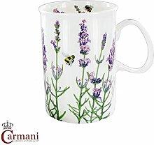 CARMANI - Klassisch Porzellan-Becher mit Lavendel