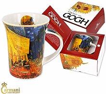 CARMANI - Porzellan-Becher mit 'Café-Terrasse