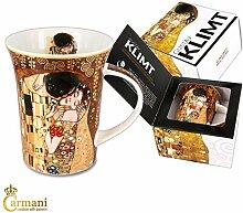CARMANI - Porzellan-Becher mit 'Der Kuss'