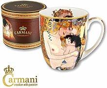 CARMANI - Porzellan-Becher mit 'Motherhood' von Gustav Klimt dekorier