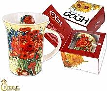 CARMANI - Porzellan-Becher mit 'Rote