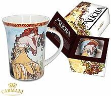 CARMANI - Porzellan-Becher von Alfons Mucha