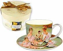 CARMANI - Porzellan-Tasse und Untertasse,