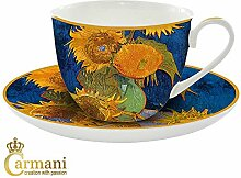 CARMANI - Porzellan-Tasse und Untertasse mit
