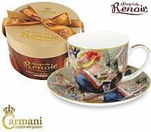 CARMANI - Porzellan Tasse und Untertasse mit