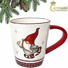 CARMANI - Weihnachtsbecher - Dwarf dekoriert Keramik