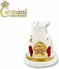 Carmani - Weiße Keramik Weihnachtsglocke,