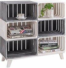 CARO-Möbel Kistenregal Kalena 2 farbig lackiert