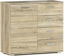 CARO-Möbel Kommode Sideboard Schrank Chicago in