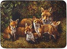 Caroline 's Treasures bdba0090rug Fox Familie