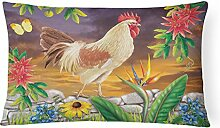 Caroline's Treasures White Rooster Canvas