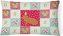 Carolines Treasures CK5396PW1216 Rex Rabbit Love