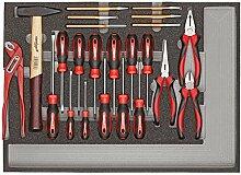 CAROLUS 2250.906 Werkzeugsatz Schraubendreher, Zangen, Hammer, Meißel, 1 Stück
