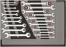 CAROLUS 2250.907 Werkzeugsatz Maul-Ringratschenschlüssel, Doppelmaulschlüssel, 1 Stück