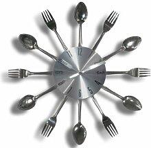 Carousel Clocks Wanduhr-Küche Besteck Silber,