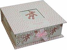Carousel Home New Baby Andenken Memory Box ~ rosa