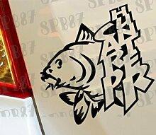 Carp Hunter Angeln Fische Boot Funny Car Bumper Window Funny Vinyl Van Laptop Love Herz Decor Home Live Kids Funny Art Wand Aufkleber Aufkleber Motorräder