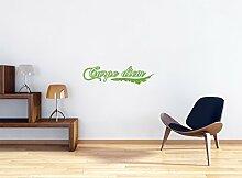 Carpe Diem Wandtattoo Format: 900x220 mm_c Wandbild, Wandaufkleber, Wandsticker Dekoration für Wohnzimmer, Schlafzimmer und Kinderzimmer