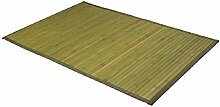 Carpemodo Bambusmatte Bambusteppich, Farbe: Grün, Größe: 50x80 cm