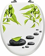 Carpemodo WC Deckel Holz, Weiß Grün, Kollektion