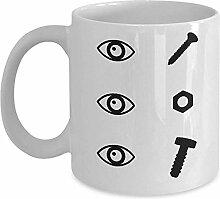 Carpenter Gift Mug - Augenschraube Augenmutter