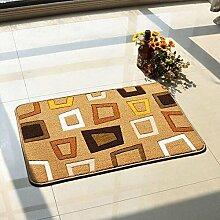 carpet Anti-Rutsch-Schnitt Blumen-Eingangshalle Eingangstür Wohnzimmer Eingangstür Matratze Matratze Teppich Mat Mat Bettmatten ( Farbe : A1 )